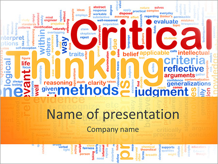 Critical Thinking PowerPoint Template, Backgrounds  Google Slides