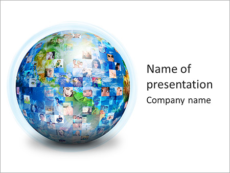 Global Communication PowerPoint Template, Backgrounds  Google - global powerpoint template