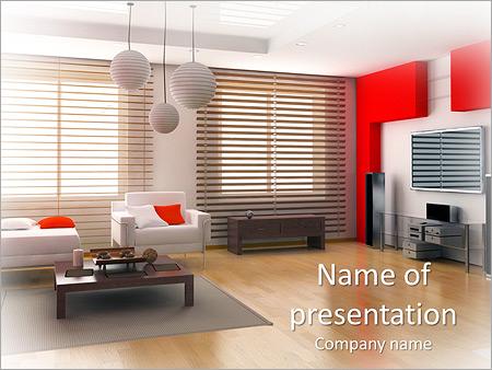 Modern Interior Design PowerPoint Template, Backgrounds  Google