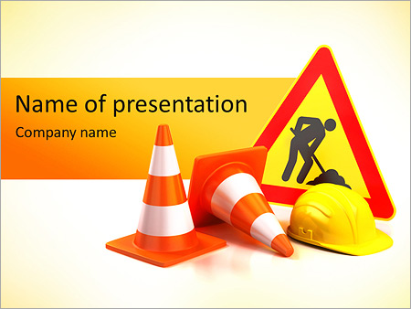 Safety Sign PowerPoint Template, Backgrounds  Google Slides - ID