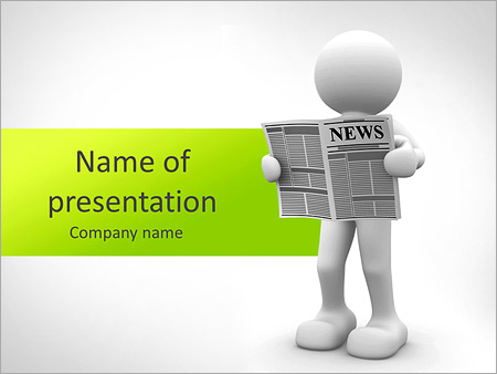 Newspaper PowerPoint Template  Backgrounds ID 0000005344