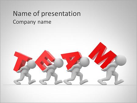 Hard Teamwork PowerPoint Template  Backgrounds ID 0000005552 - teamwork powerpoint