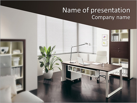 Office Interior PowerPoint Template, Backgrounds  Google Slides - office powerpoint template