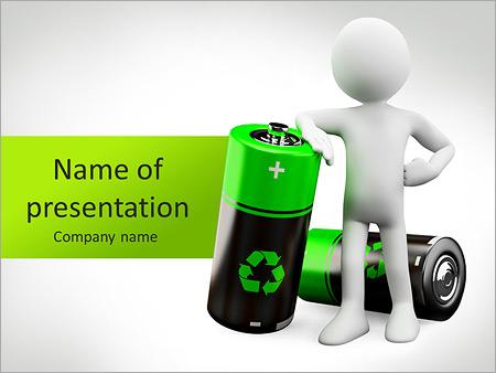 Battrey Recycling PowerPoint Template  Backgrounds ID 0000005741 - recycling powerpoint templates