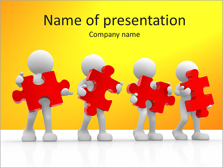 Puzzle Teamwork PowerPoint Template, Backgrounds  Google Slides