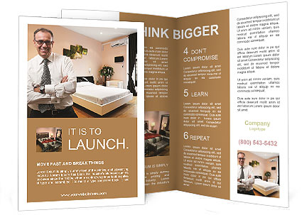 Businessman In Hotel Brochure Template  Design ID 0000006600 - hotel brochure template