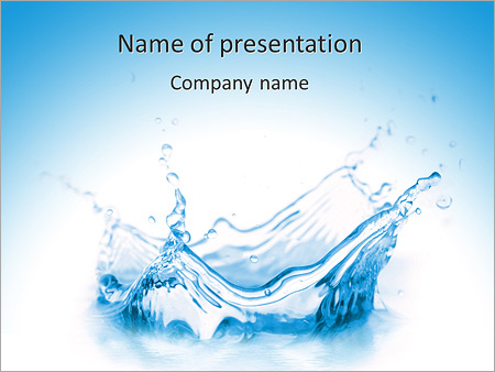 Pure Water PowerPoint Template, Backgrounds  Google Slides - ID