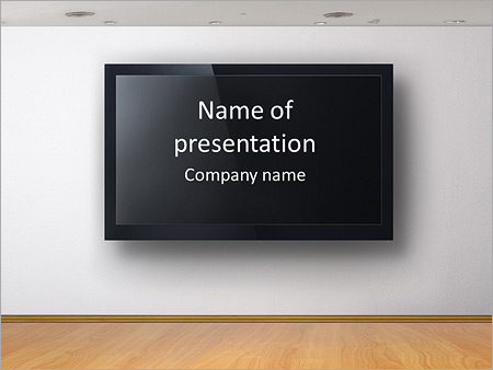 TV Screen PowerPoint Template, Backgrounds  Google Slides - ID