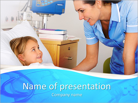 Child In Hospital PowerPoint Template, Backgrounds  Google Slides