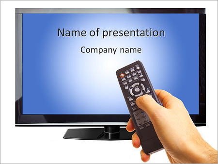 Smart TV PowerPoint Template  Backgrounds ID 0000007026