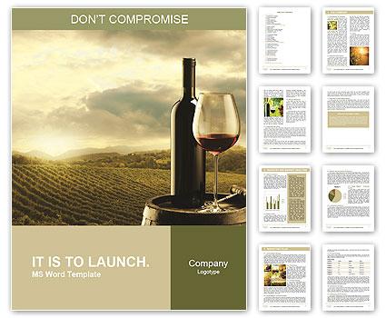Best Wine Word Template  Design ID 0000007202 - SmileTemplates