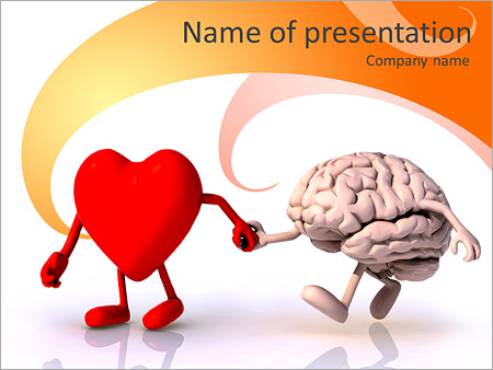 Heart Vs Brain PowerPoint Template  Backgrounds ID 0000007241