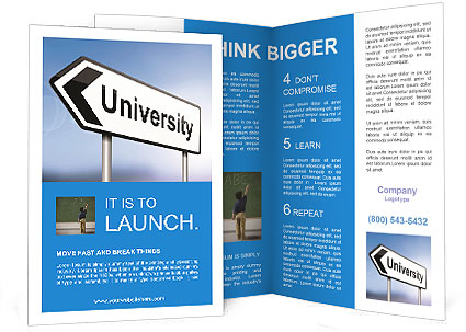 University Study Brochure Template  Design ID 0000007372