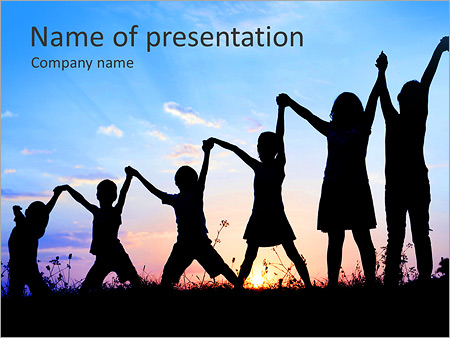 Group Of Children PowerPoint Template, Backgrounds  Google Slides