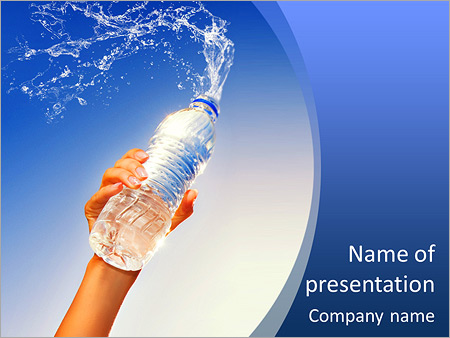 Bottled Water PowerPoint Template  Backgrounds ID 0000007879 - water powerpoint template