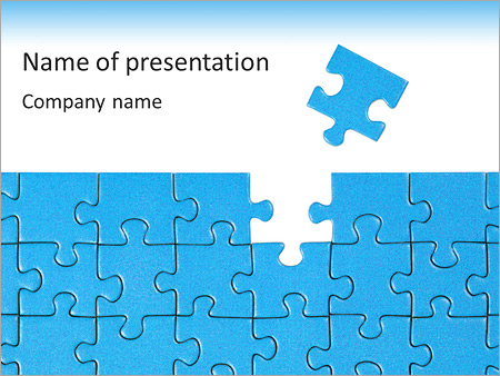 Finished Blue Puzzle PowerPoint Template, Backgrounds  Google - puzzle powerpoint template