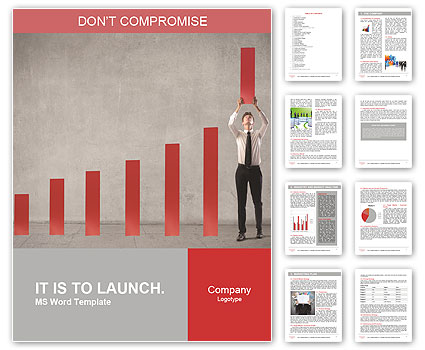 Annual Report Word Template  Design ID 0000007983 - SmileTemplates - ms word report templates