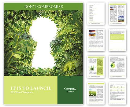 Keyhole nature Word Template  Design ID 0000008048 - SmileTemplates