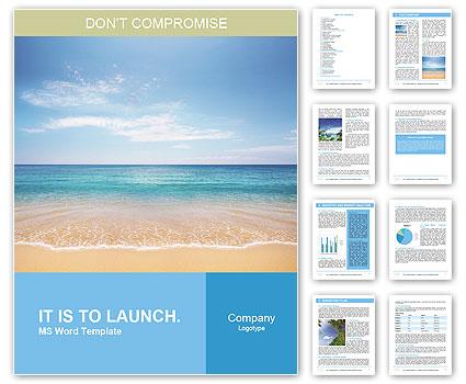 Sea, summer Word Template  Design ID 0000008408 - SmileTemplates - word templates