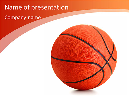 Basketball ball on a white background PowerPoint Template - basketball powerpoint template