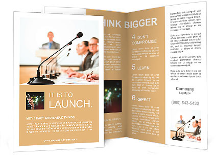 Conference and Workshop Brochure Template  Design ID 0000008780