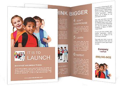 Kids ready back to school Brochure Template  Design ID 0000009336
