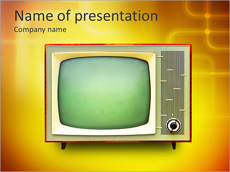 Vintage TV set isolated Clipping path included PowerPoint Template