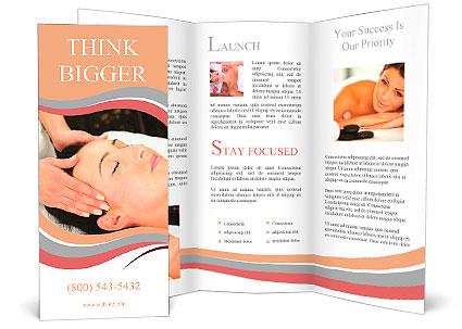 Young woman receiving massage - SPA Brochure Template \ Design ID - spa brochure