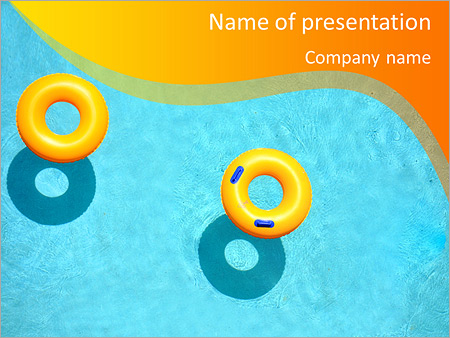 Yellow pool float, pool ring in cool blue refreshing blue pool, room - cool blue backgrounds for powerpoint