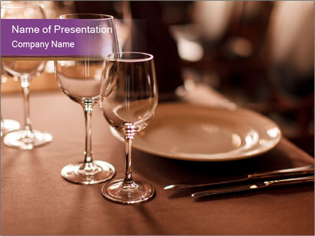 Restaurant Table PowerPoint Template, Backgrounds  Google Slides