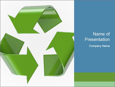 Recycling symbol PowerPoint Template  Backgrounds ID 0000095945 - recycling powerpoint templates