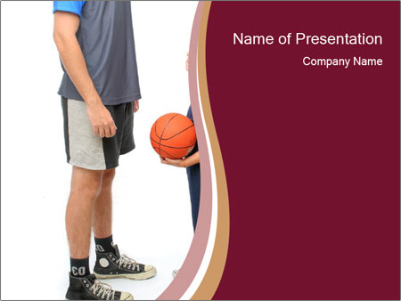 Play basketball PowerPoint Template  Backgrounds ID 0000096100 - basketball powerpoint template