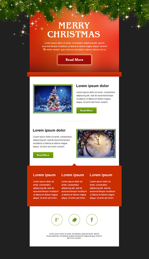 Christmas is coming! Download a Free Holiday Email Template! (PSD +