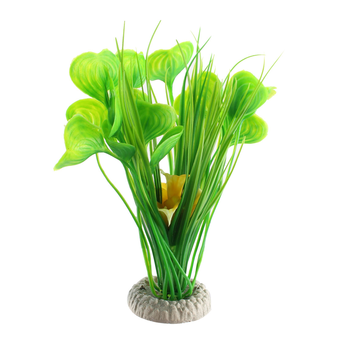 Lifelike Plants Aquarium Ceramic Base Artificial Lifelike Grass Plant