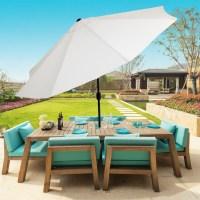 Pure Garden 10 Foot Aluminum Patio Umbrella with Auto Tilt ...