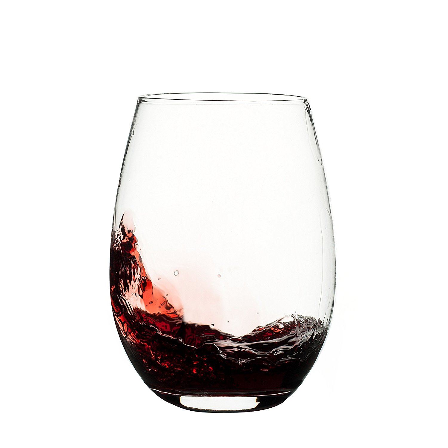 Large Crystal Wine Glasses Set Of 4 Large 20 Oz Eravino Stemless Crystal Wine Glasses