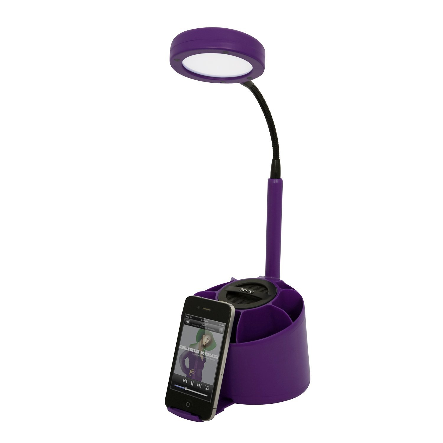 iHome Desk Lamp with Pen Organizer and Speaker
