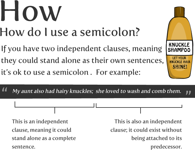 How To Use A Semicolon The Oatmeal
