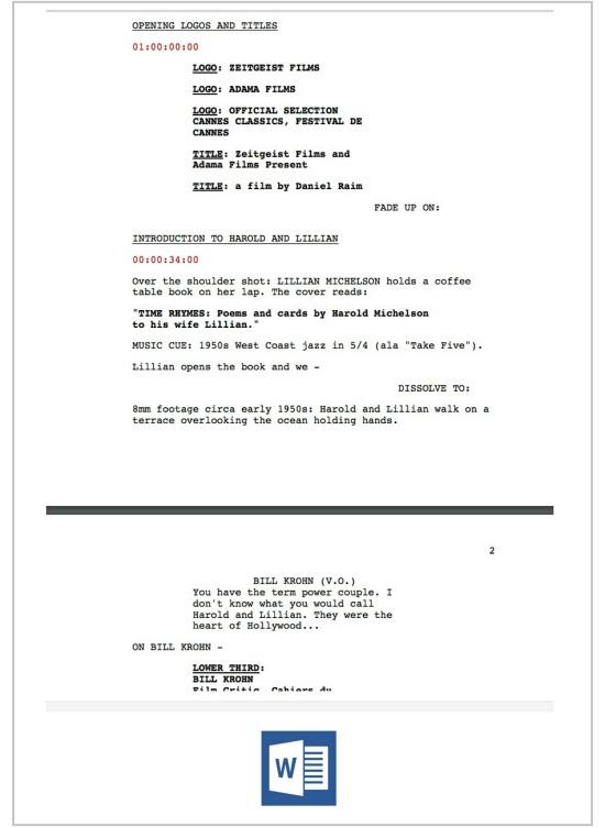 Documentary Scriptwriting Template + Mini-Course