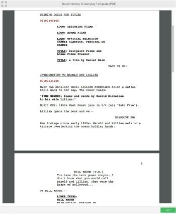Documentary Scriptwriting Template + Mini-Course - screenplay template
