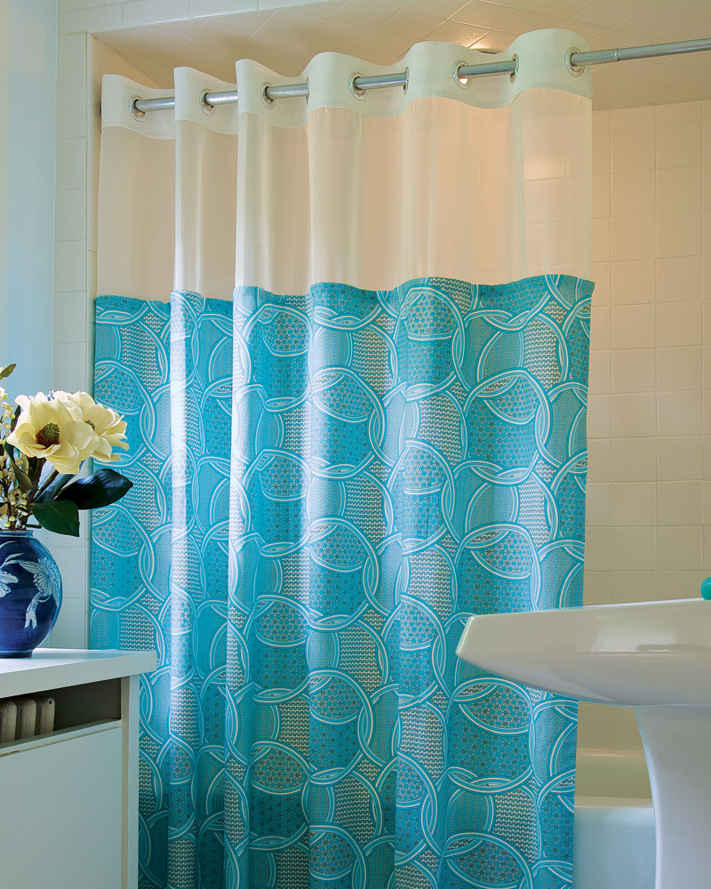 How To Make Shower Curtain How To Make A Quick Change Shower Curtain Threads