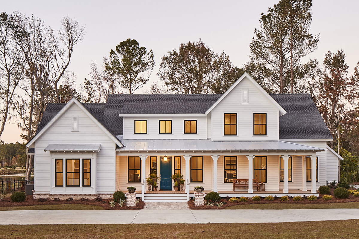 Georgian Farmhouse Design Home Southern Living Custom Builder