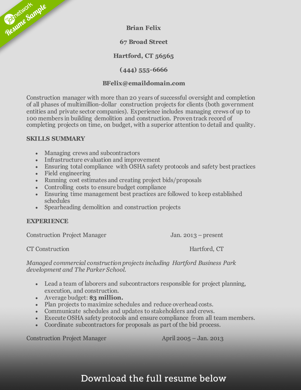 Resume Surgery Online Resume Building App How To Write A Perfect Construction Resume Examples Included