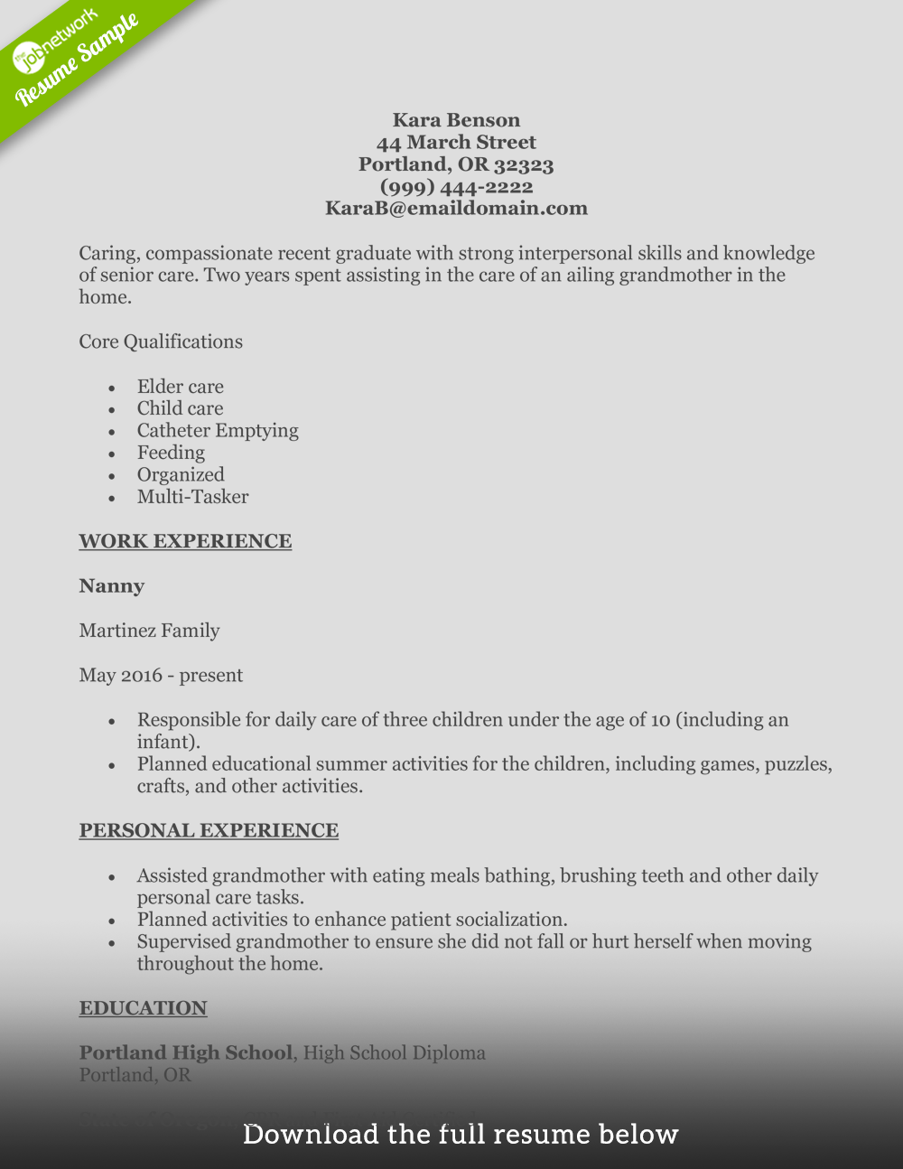 entry level barista resume template download