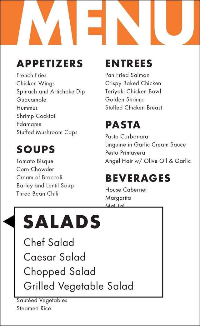 How to hack a restaurant menu