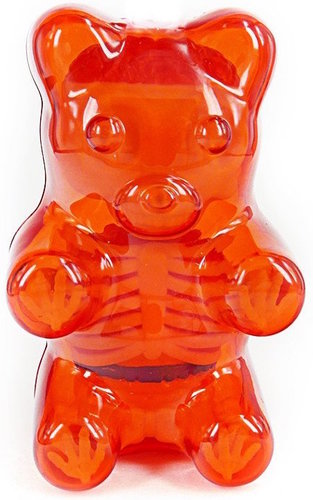 Designervinyl Baby Clear Gummi Bear Funny Anatomy - Red Gummi Be