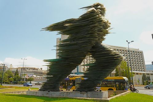 The Runner Sculpture in Athens, Attica, Greece