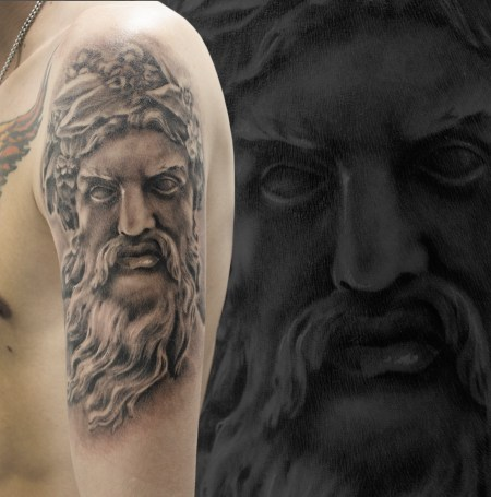 Zeus Face Tattoo
