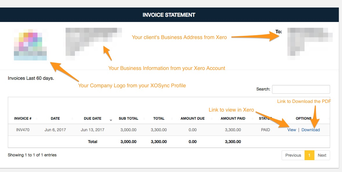 How do I use the Invoice Statement Feature? - IT Mooti Support
