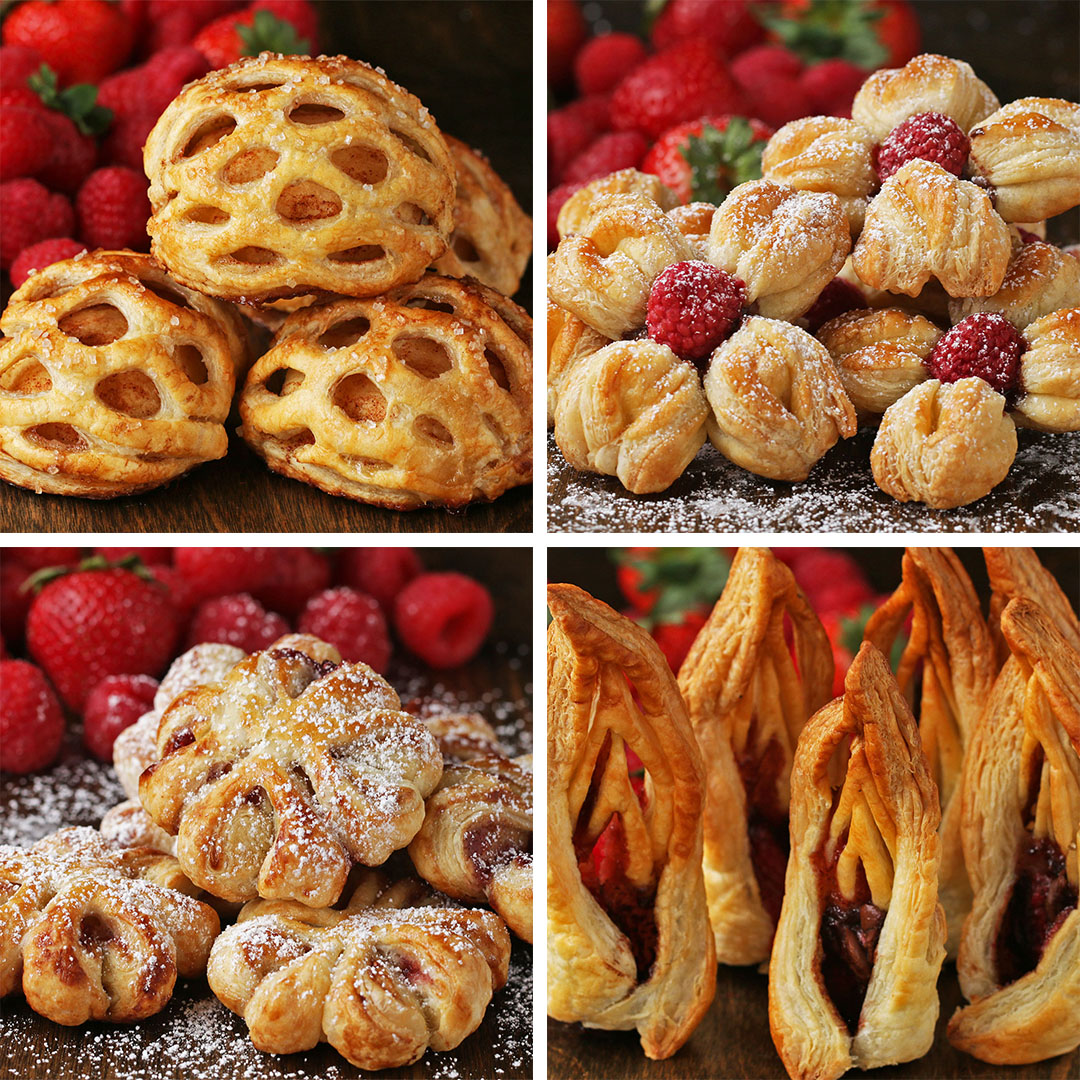 Puff Pastry Decorations 4 Ways Recipes